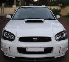 subaru impreza black subaru impreza halo projector head lights my03 my05 black
