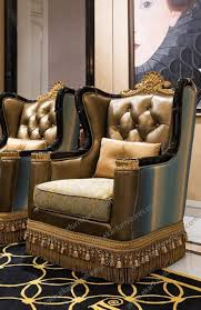 Wooden Carving Furniture Sofa Sofas Center Luxury French Rococo Wood Carved Hand Painted
