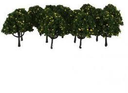 Fruit Tree Garden Layout Magideal 20pcs Model Yellow Fruit Trees Garden Layout