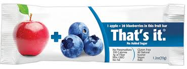 that u0027s it fruit bar apple and blueberry 1 2 ounce 12 count