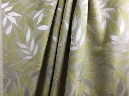 Upholstery Fabric For Curtains Featured Green Leaves Floral Home Decor Italian High End Designer