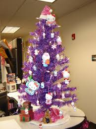 pink and purple christmas tree baubles decorations ideas red white