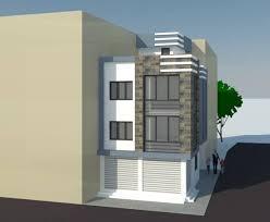 semi commercial building design of mr home designer nepal