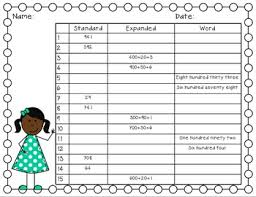 form standard form word form write the room task cards