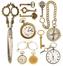 vintage accessories golden vintage accessories antique clock scissors compa