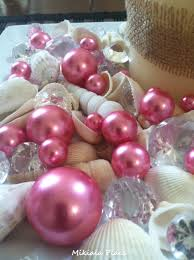 pink pearls diamonds u0026 seashell gem mix for wedding