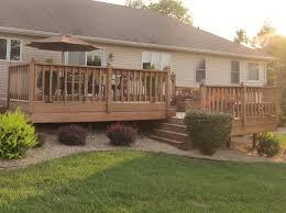 Split Level House With Front Porch Split Level Deck With Stairs Set Back But Still Forward Facing