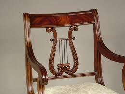 lyre back dining room chairs solid mahogany schmieg u0026 kotzian design