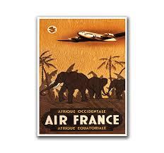 african wall decor travel poster africa safari art retro print