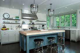light grey kitchen cabinets with wood countertops 75 beautiful kitchen with gray cabinets and wood countertops