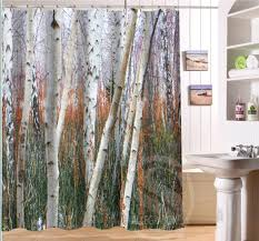 Custom Shower Curtains Birch Forest Personalized Custom Shower Curtain Bath Curtain
