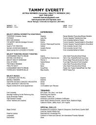 Musician Resume Sample by Opera Resume Template Free Resume Example And Writing Download