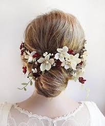 flower hair clip burgundy wedding hair flower hair clip burgundy