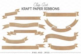 paper ribbon check out kraft paper ribbons banners clip by azmaridigitals