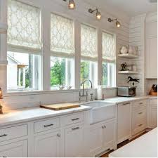 decorating impressive great pottery barn roman shades for awesome kitchen pottery barn roman shades with endearing white kitchen countertop plus mesmerizing brown wood floor