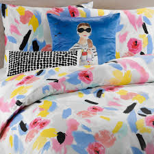 Bright Comforter Sets Kate Spade New York Paintball Floral King Duvet Cover Set