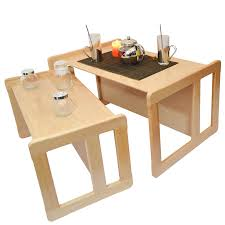 Bench And Table Set Obique 3 In 1 Childrens Multifunctional Furniture Set Of 2 One