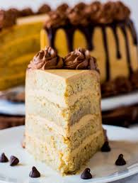 peanut butter banana cake with whipped ganache tornadough alli