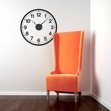 clock wall sticker large funky wall clock sticker