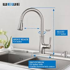 brushed nickel faucet with stainless steel sink kitchen faucet pull down sprayer wewe a1008l 2017 new design