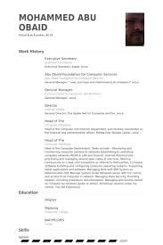 Resume Sample For Secretary by Executive Secretary Resume Samples Visualcv Resume Samples Database