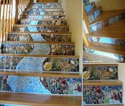 Tiles For Stairs Design Most Beautiful Interior Mosaic Staircases Mozaico Blog