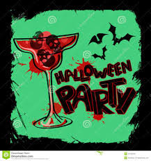scary halloween lettering halloween party poster with hand lettering royalty free stock