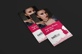nail salon trifold brochure template for photoshop u0026 illustrator