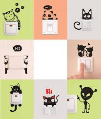 fashion diy funny cute cat dog animal switch stickers wall fashion diy funny cute cat dog animal switch stickers wall stickers for living room kids bedroom light switch wall home decor wall stickers for children