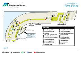 Airport Terminal Floor Plans Terminal Maps Manchester Boston Regional Airport
