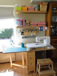 corner sewing table plans sewing room ideas the seasoned homemaker for desk designs 5