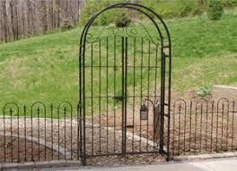 wrought iron metal gates
