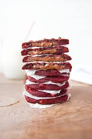 nutella stuffed red velvet cookies broma bakery