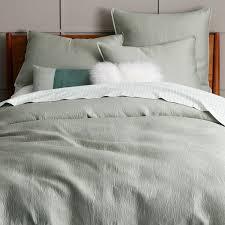 West Elm Organic Duvet Bedroom 400 Thread Count Organic Fleur Sateen Duvet Cover Shams
