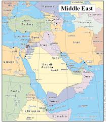 Southwest Asia Physical Map Oregon City Schools Global Studies Physical Geography