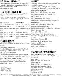breakfast menu purple onion cafe