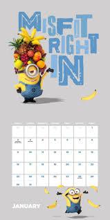 minion desk calendar 2017 despicable me minions official 2017 calendar square 305x305mm wall