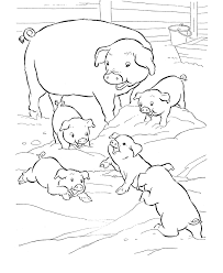 pictures pigs print kids coloring