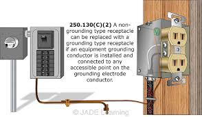 replacing two wire receptacles the junction box