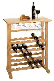 winsome 24 bottle wine rack with glass rack by oj commerce 83024