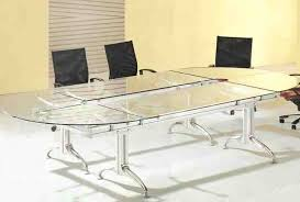 ofm tempered glass conference table stainless steel attractive glass conference table with all glass conference tables