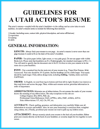 Beginning Actor Resume Cool Learning To Write An Audition Resume Resume Template