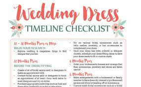 wedding planning schedule awesome wedding dress planning timeline free printable