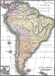 Map Of South And Central America by History Of South America Wikipedia