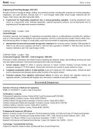 exle of resume for a 2 resume sle 10 engineering management resume career resumes