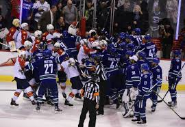 canucks snap panthers u0027 winning streak in ot as teams nearly brawl