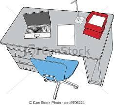 dessin de bureau bureau affaires ordinateur portable scène bureau vecteur