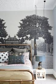 wallpaper inspiration gallery bedroom brass black white idolza