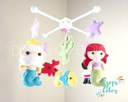 Mermaid Nursery Decor Magical Mermaid Felt Mobile Disney Crib Best Images On