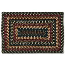 decor wonderful stripped rectangle green red and black color jute